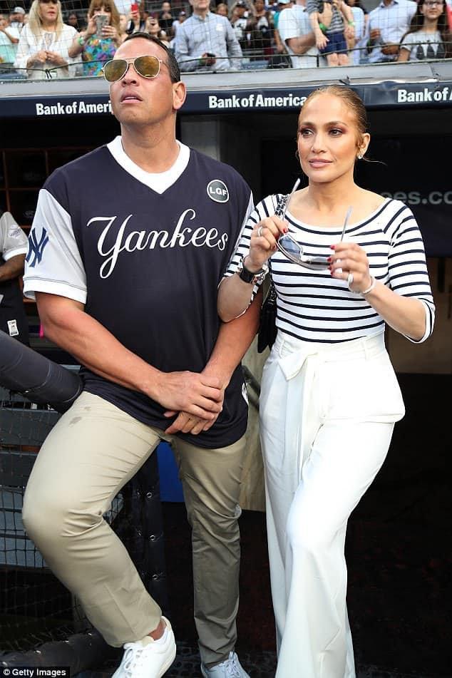 "Jennifer & Alex Rodriguez au ""Softball Game"" à New York le 29.06.2018"