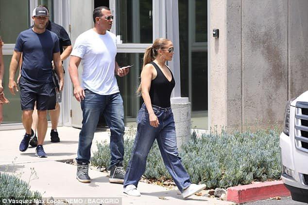 Jennifer et Alex à Los Angeles le 10.07.2018