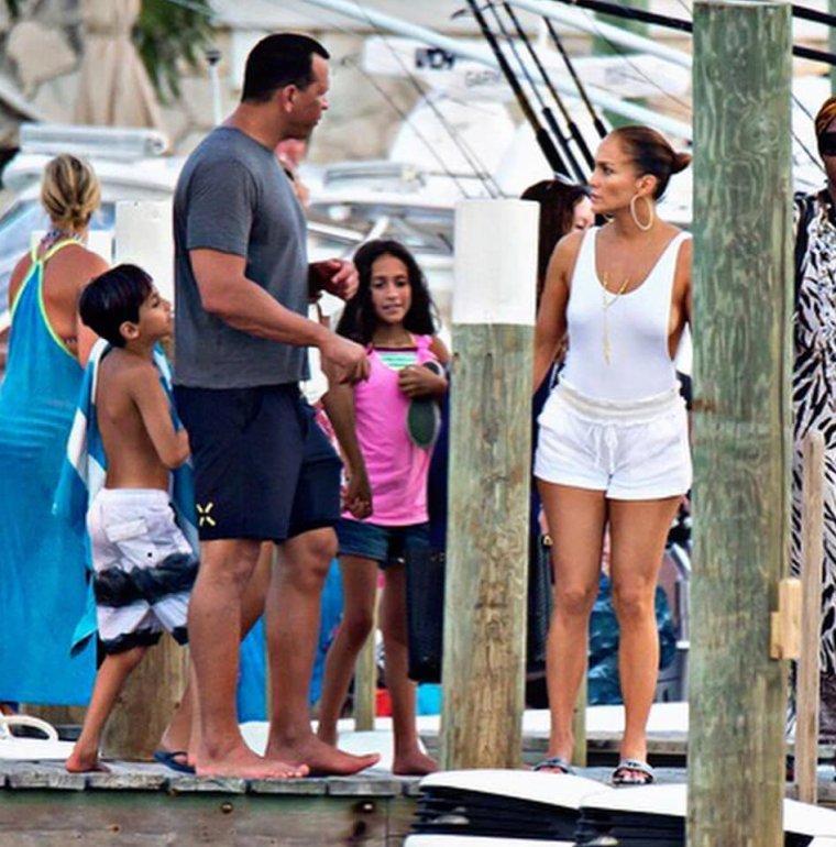 Jennifer et sa famille aux Bahamas le 28.07.2018
