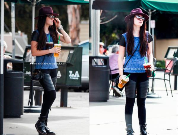 07/03/14 Isabelle prend une commande chez Starbucks à Los Angeles !