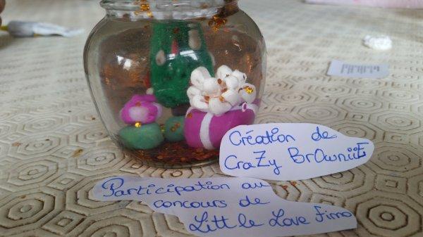 pour le concours de little love fimo thème n°1:saison: boule a neige