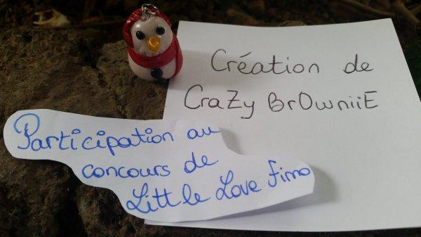 pour le concours de little love fimo thème n°1: saison : bonhomme de neige