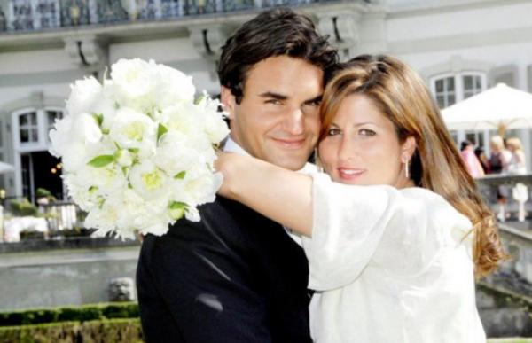 Mirka et Roger Federer