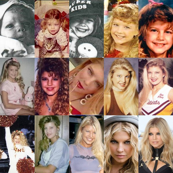 ○ L'évolution de Fergie en images . Coup de c½ur pour la deuxième image ♥