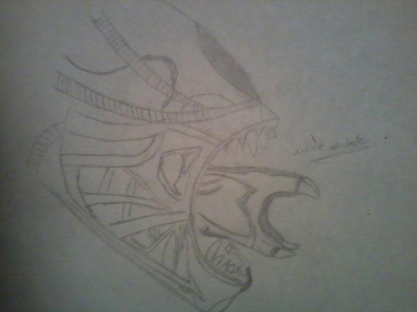 dessin d'alien rapide