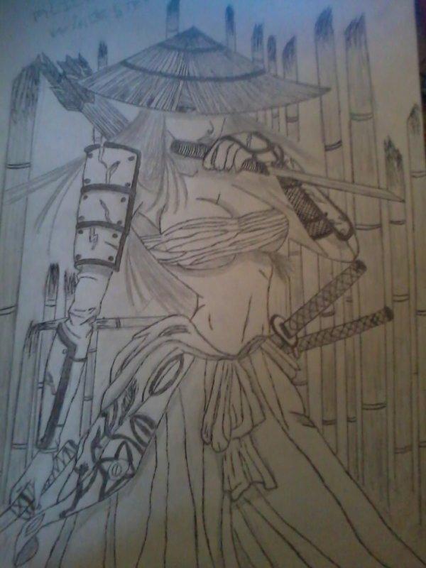 dessin pour le tournoi sur les samurai