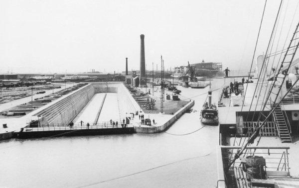 La cale sèche du Titanic