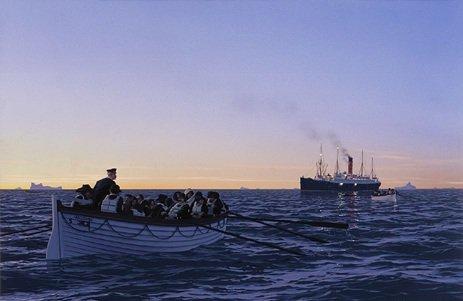 L'arrivée du Carpathia sur les lieux du naufrage
