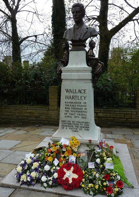 Le Mémorial de Wallace Hartley, musicien du Titanic