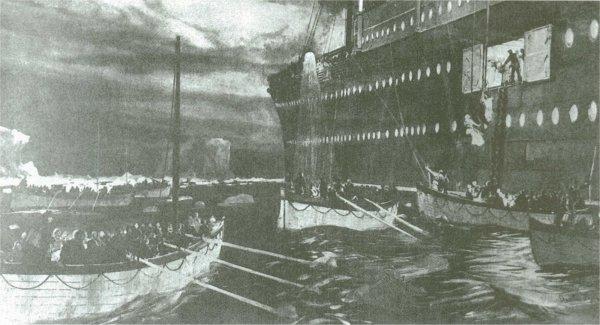 Les passagers des canots