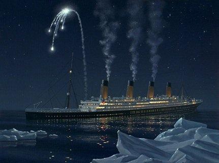 Les signaux et fusées de détresse du Titanic