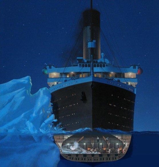 La collision avec l'iceberg