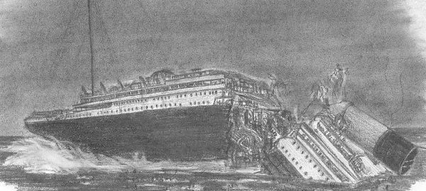 Le Titanic se brisa en deux
