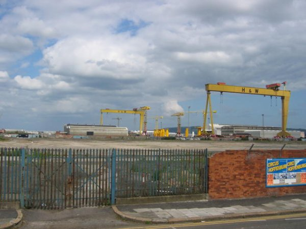 Le chantier Harland & Wolff aujourd'hui