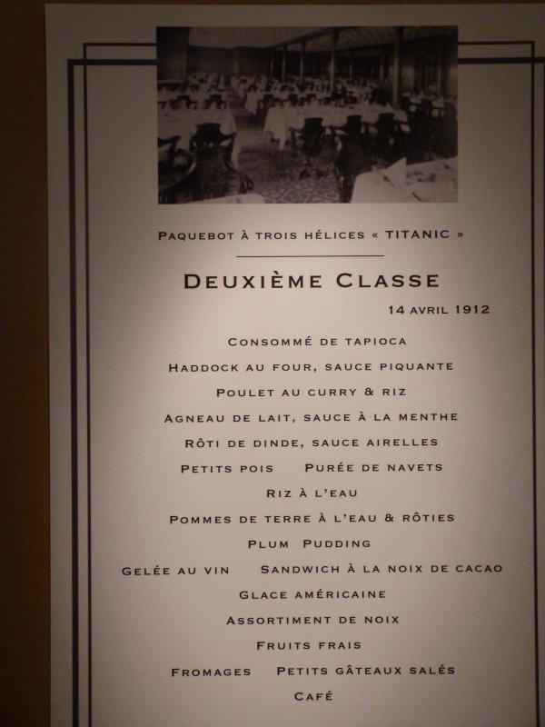 Le menu des Deuxième Classe