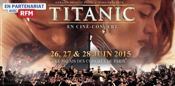 Titanic live, dates des représentations