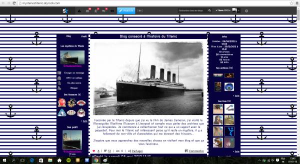 Pub pour un blog Titanic