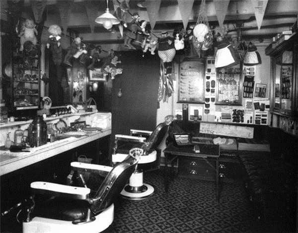 Les salons de coiffure du Titanic
