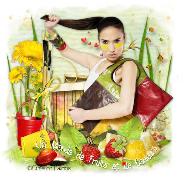 Tuto 317 - Un monde de fruits et de couleurs