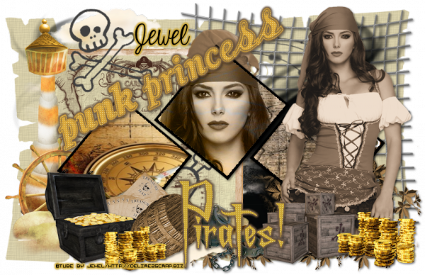 Tuto 465 - Princess Pirate