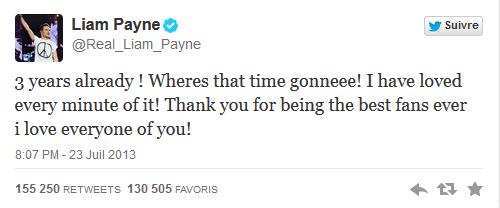Les One Direction laisse des messages aux directioners pour les 3 ans du groupe !