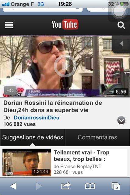 Déjà + de 100000 vue de ''24 h avec Dorian Rossini'' qui a été mis sur YouTube hier soir!!!