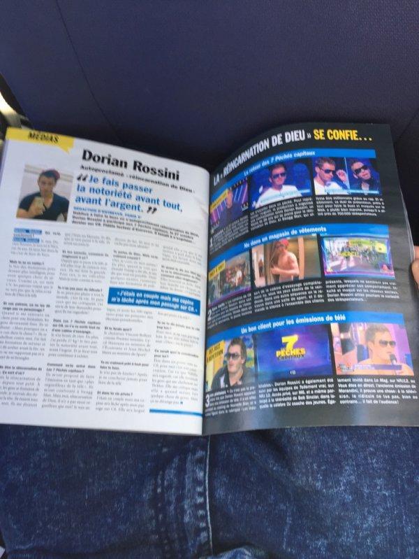 Dorian Rossini interview dans le magasine entrevu du mois de décembre ???