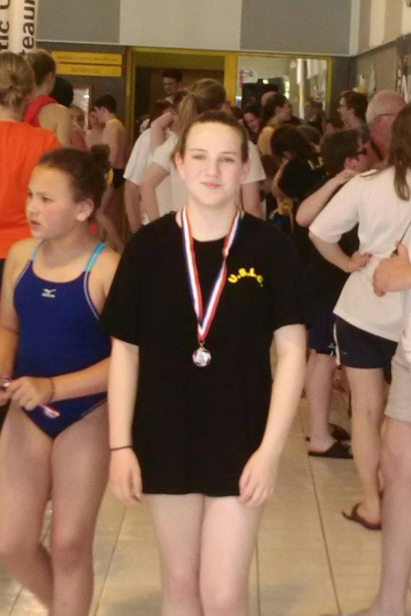 Moi à ma compétition avec la médaille du jour