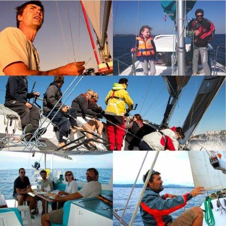 Navigation accompagnée avec un skipper à votre service