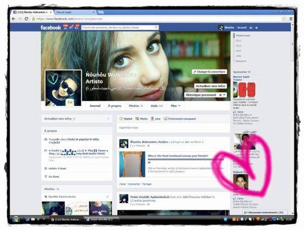 Chez Moiii ^^ Sur **facebook**