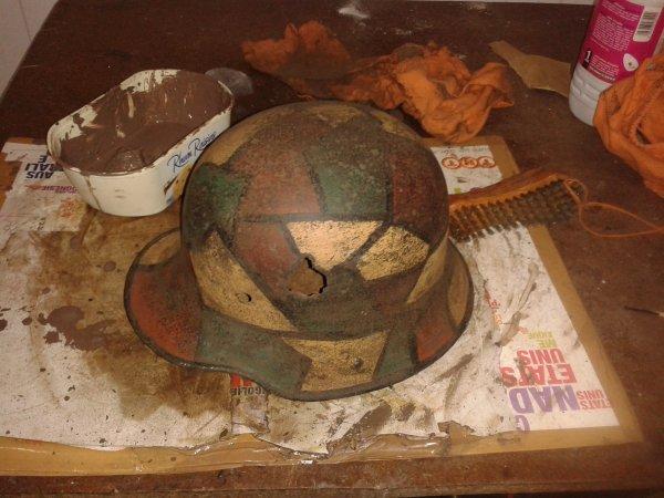 vieillissement du casque allemand mdl16