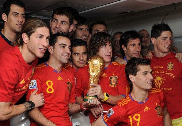 Fernando Torres, Xavi Hernandez, Carles Puyol, Pedro Rodriguez, Sergio Ramos, Fernando Llorente