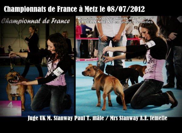 Championnats de France Metz 08/07/2012