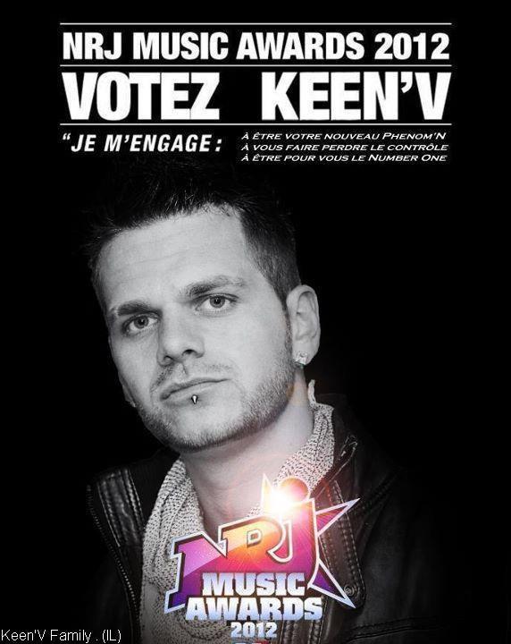 Keen'V ; Nominé au NRJ Music Awards !.