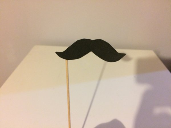 DIY moustaches.
