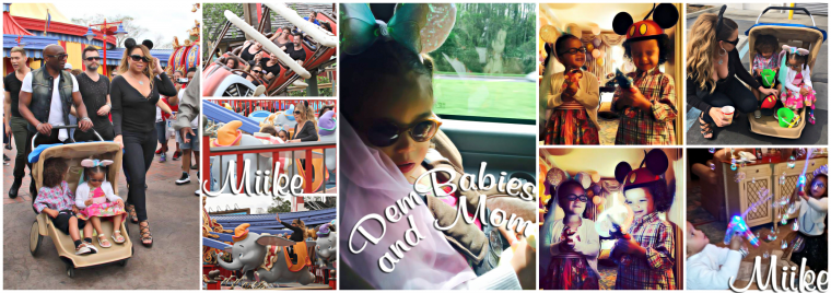 • Mariah Carey and Dembabies at Walt Disney World Resort (Magic Kingdom) 2014 ♥