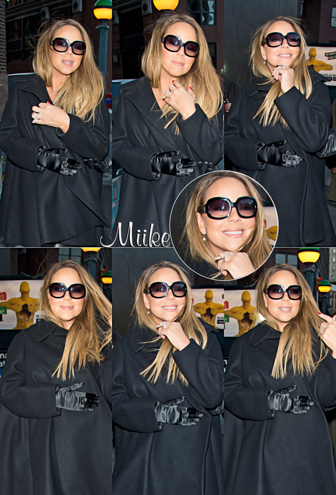 • Mariah Carey visits 'The Elvis Duran Z100 Morning Show' at Z100 Studio in New York on (12 fevrier 2014) ♥