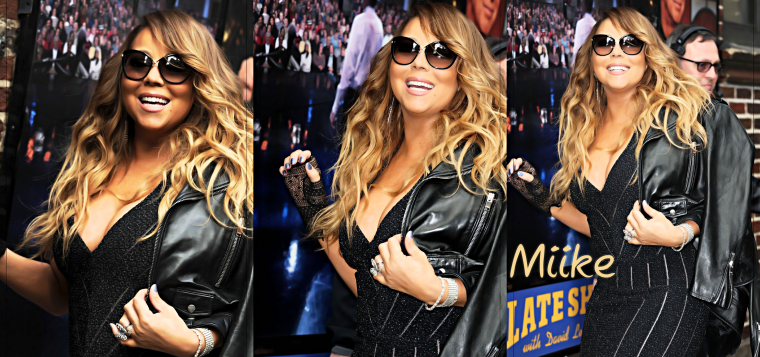 • Mariah Carey - At David Letterman (7 Mai 2014) ♥