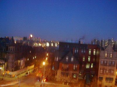 La vue depuis l'appartement de ma belle soeur