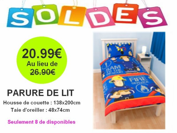parure de lit 1 personne sam le pompier articles enfant sous licences disney dora. Black Bedroom Furniture Sets. Home Design Ideas