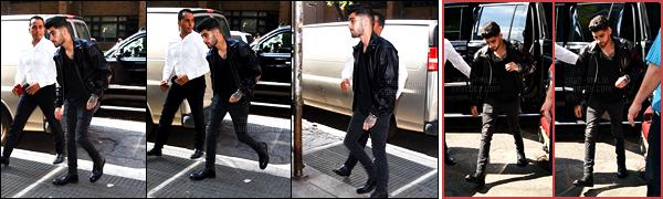 - 13/09/16 : Zayn a été aperçu, arrivant à l'immeuble de sa petite-amie situé dans le quartier de Manhattan !Mais quel progrès ! Il s'est arrêté pour prendre quelques photos avec les fans présentes devant l'immeuble. Pour une fois que Gigi l'en empêche pas.-