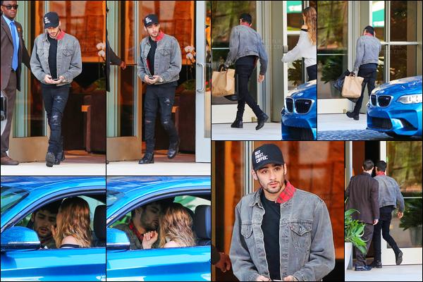 18/10/16 : Zayn a été photographié en voiture avec sa petite-amie Gigi Hadid dans la ville de Los Angeles !On peut voir que le couple est entré puis sorti du bâtiment. Peut-être pour des rendez-vous, je n'ai malheureusement aucune information à ce sujet.