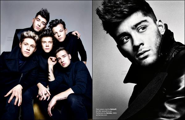 * Zayn fera la couverture du magasine«GQ British» pour le mois de Septembre 2013. Chaque garçon a fait la couverture du magasine. Vous pourrez vous procurer la couverture Liam, Harry, Louis ou Niall si vous le désirez. *