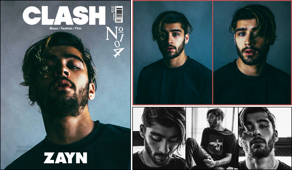 """"""" Zayn fait la première de couverture du magazine anglais « CLASH » du mois d'Août !  Pour le mois d'Août, Zayn fait la première du couverture du magazine. Plusieurs célébrités y ont également participé tel que le chanteur Shawn Mendes. """""""