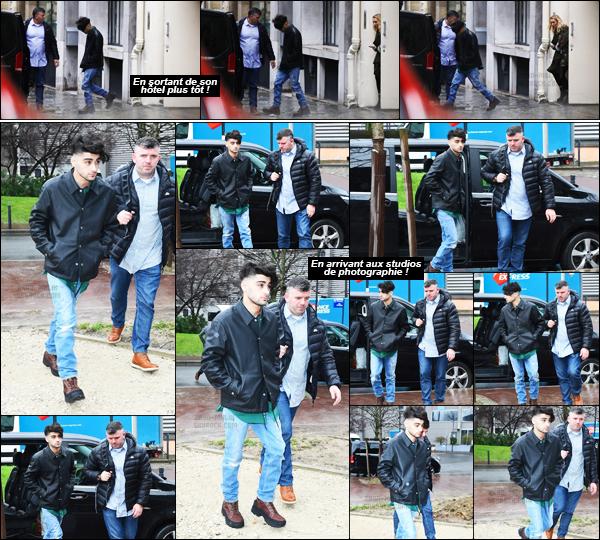 .05/03/17. ─ Zayn a été photographié en quittant son hôtel pour se rendre au studio « Rouchon » dans la ville de Paris. En effet, Zayn avait rendez-vous avec un grand photographe pour réaliser une interview mais également un photoshoot pour un magazine britannique !