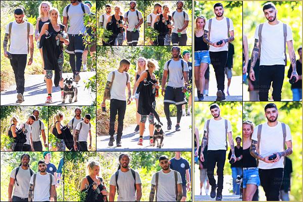 """"""" 22/05/16 : Zayn Malik a été photographié lorsqu'il faisait une randonnée dans le quartier de Malibu situé en Californie.C'est en compagnie de deux membres de son équipe que Zayn a été marché et se dépenser. Je trouve ça bien d'avoir quelques photos sans sa Gigi Hadid  """""""