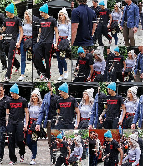 19/05/13 : Zayn et sa petite copine Perrie Edwards ont étaient vus, sortant de leur hôtel à Milan en Italie.