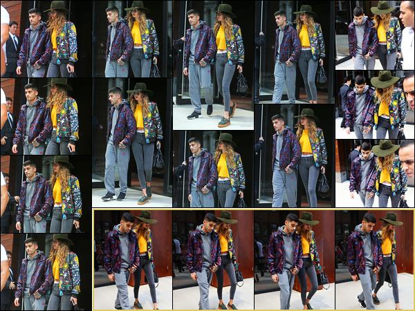 - 06/07/16 : Zayn a été photographié alors qu'il sortait de l'appartement de Gigi Hadid situé dans Manhattan !Après quelques semaines d'absence, nous retrouvons Zayn en compagnie de sa petite-amie à New-York. Comme d'habitude, je le trouve fatigué ... -