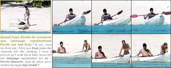 18/08/16 : Zayn a été photographié lorsqu'il profitait de ses vacances sur l'île de Tahiti située en Polynésie !Zayn a profité de quelques jours de vacances pour se prélasser mais également pour profiter de sa famille qu'il n'avait pas vu depuis plusieurs mois..