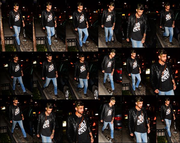 .03/05/17. ─ Zayn a été photographié alors qu'il rentrait chez lui après s'être rendu au restaurant « Nobu » à New York ! C'est sans sa Gigi Hadid que l'on retrouve Zayn pour une fois. Je vois qu'il a toujours sa teinture verte sur le bout des cheveux, j'adore toujours autant.